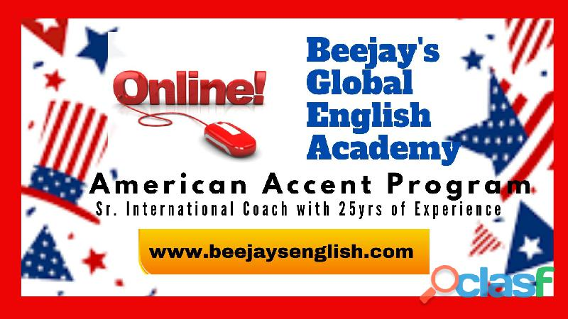 Beejay's Online LIVE American Accent Training for IT Professionals.