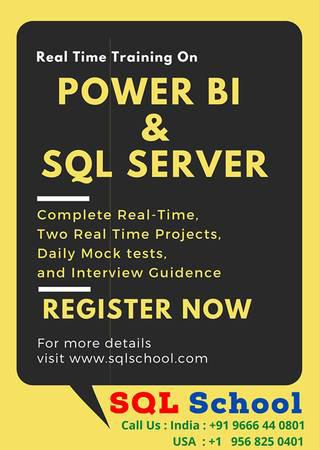Power bi with sql server training at sql school - lessons &