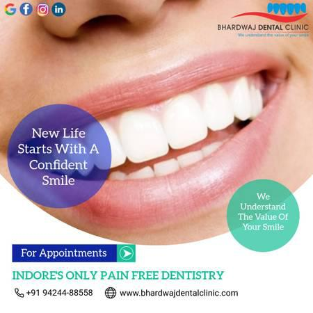 Teeth cleaning cost in indore | bhardwaj dental clinic -
