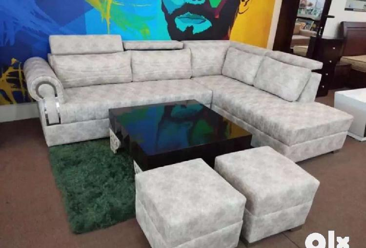 Brand new l shape sofa set with table according to dimension