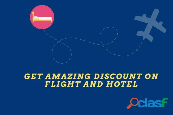 Get amazing discount on flight and hotel