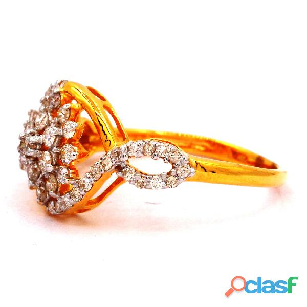 Diamond Ring Roundish Diamond Ladies Ring 1
