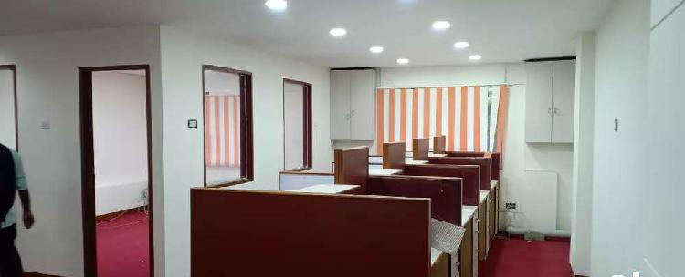 Vadapalany arcot road 1950sqft semi furnished office rent