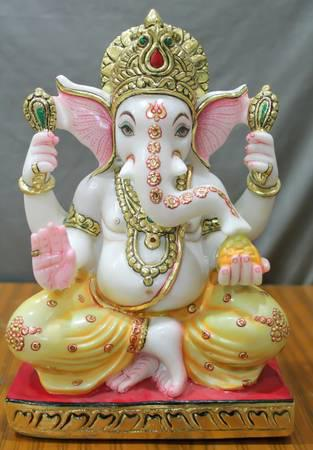 Buy divine laxmi ganesh marble statue - arts & crafts - by