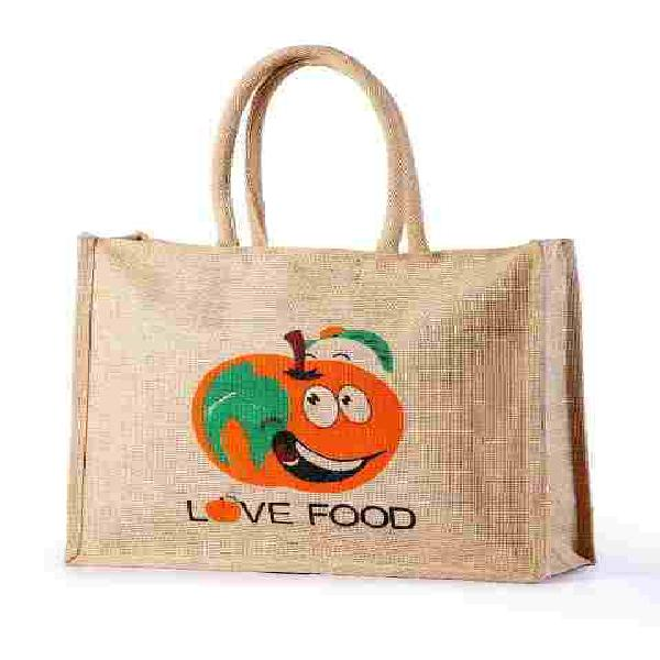 Jute grocery bag 100% eco-friendly bags with natural fiver