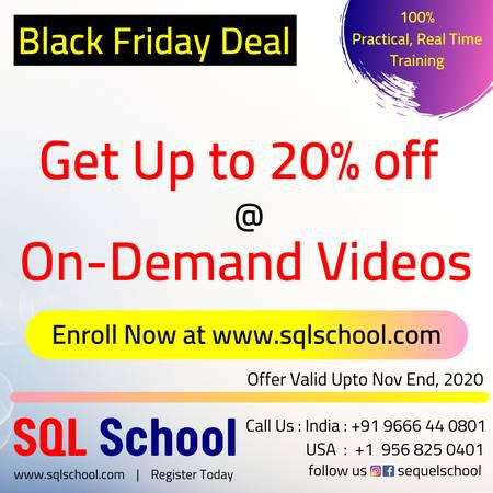 On-demand video training from sql school. - lessons &
