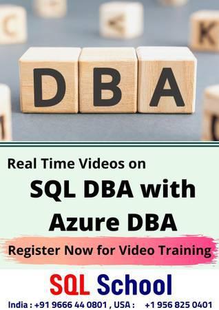 Sql dba with azure dba video training from sql school -