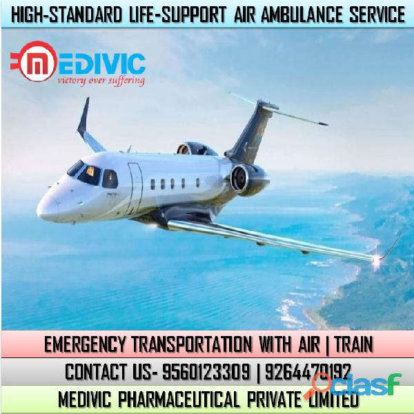 Get Ultimate Emergency Air Ambulance Service in Bokaro by Medivic