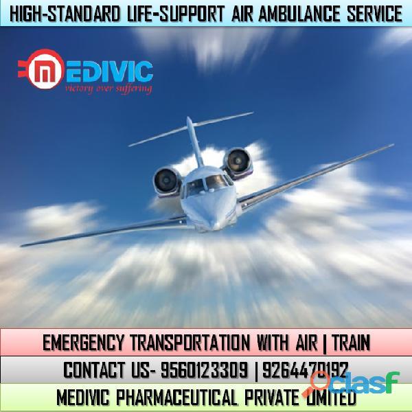Take Smart ICU Setup by Medivic Air Ambulance Service in Bhubaneswar