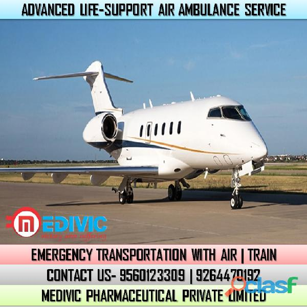 Utilize Superfine ICU Care Air Ambulance Service in Raipur by Medivic