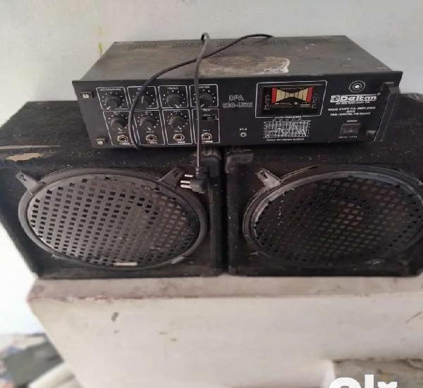 90watt amplifier with 2 box sound is very clear and sell