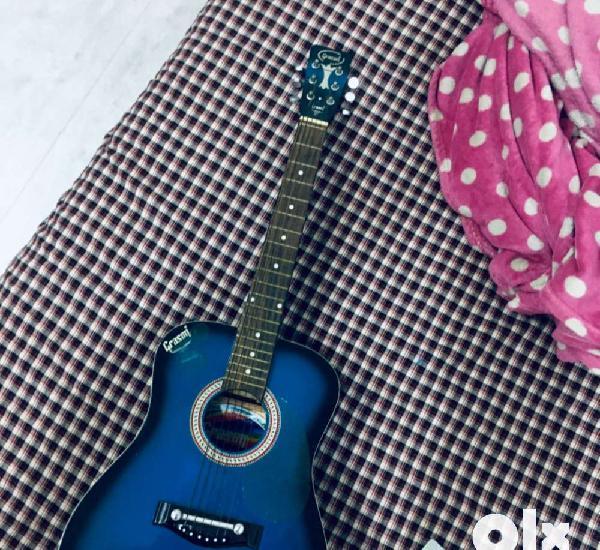 Acoustic guitar, 2018 grason, deep blue colo