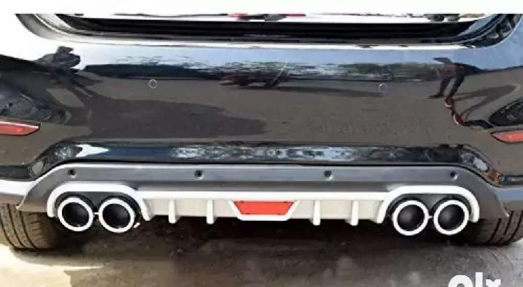 Verna 2017 back bumper diffuser