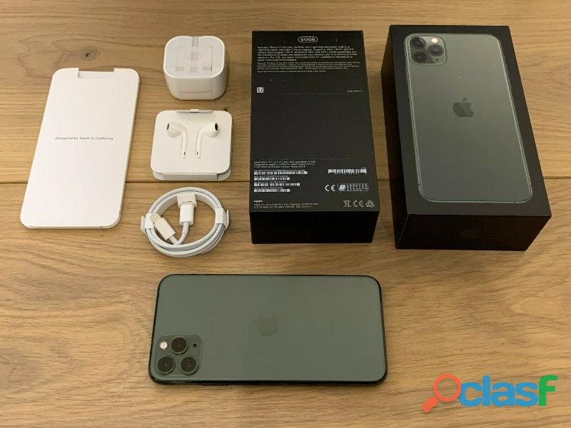 Apple iPhone 11 Pro Max 64/256 / 512GB Space Green Gray Silver Gold Gsm Unlocked