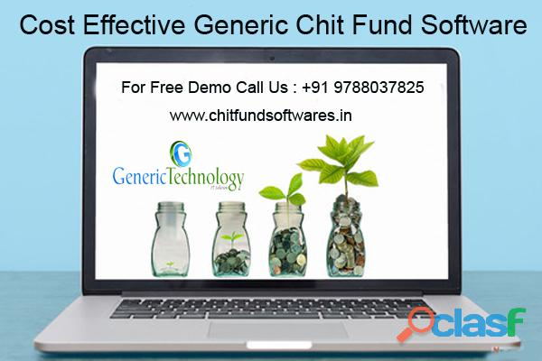 Cost Effective Generic Chit Fund Software