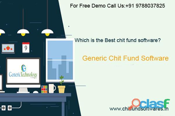 Best generic chit fund software