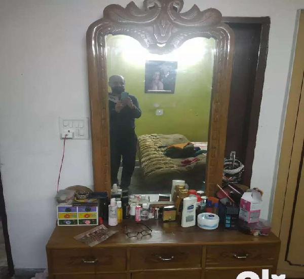 Excellent condition solid wood large storage dressing table