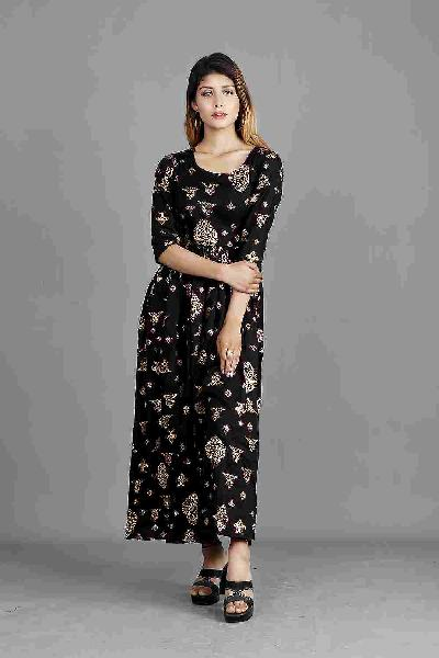 Sale black foil printed maxi for women online