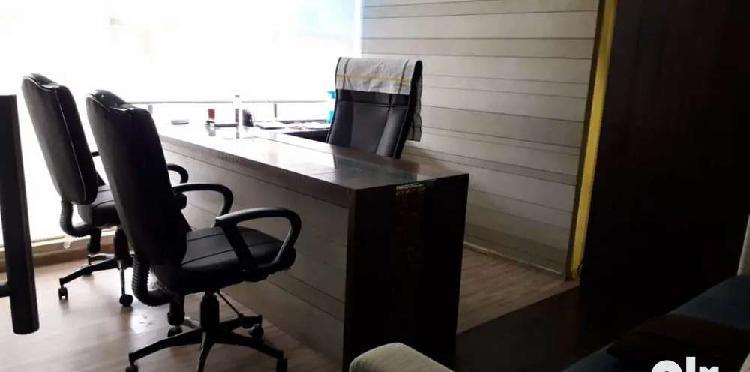 Furnished office rent near cow circle , akota.