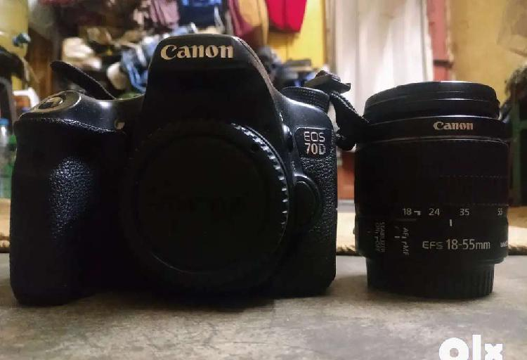 Canon 70d + 18-55 available for sale @ 35000/-