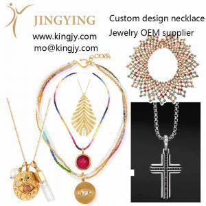 Custom necklace 18k gold 925 sterling oem manufacturers supp