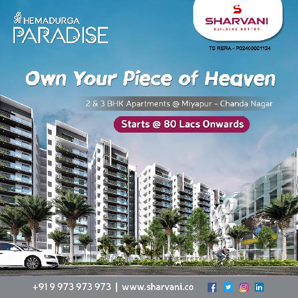 Apartments for sale near in kondapur