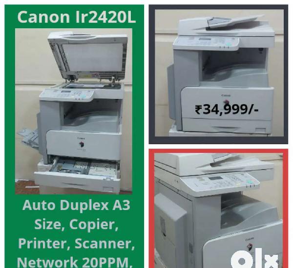 Canon ir2420l copier printer scan network auto duplex, xerox