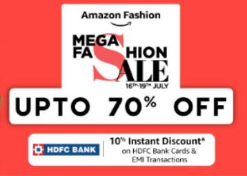 Amazon mega fashion sale up to 70 % off for men, women and