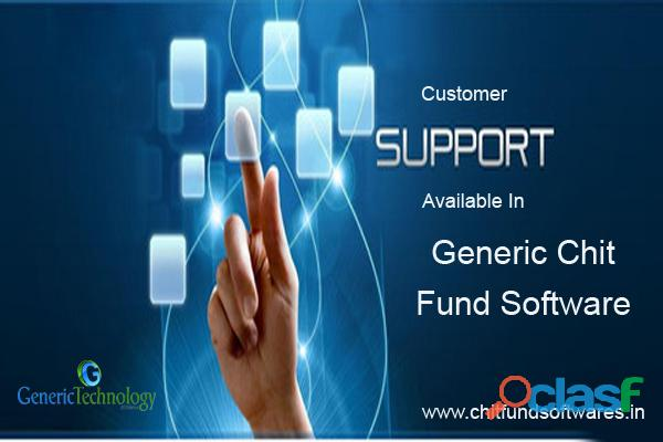 Customer support available in generic chit fund software