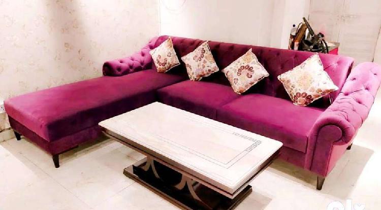 Unique colour l shape chester sofa set