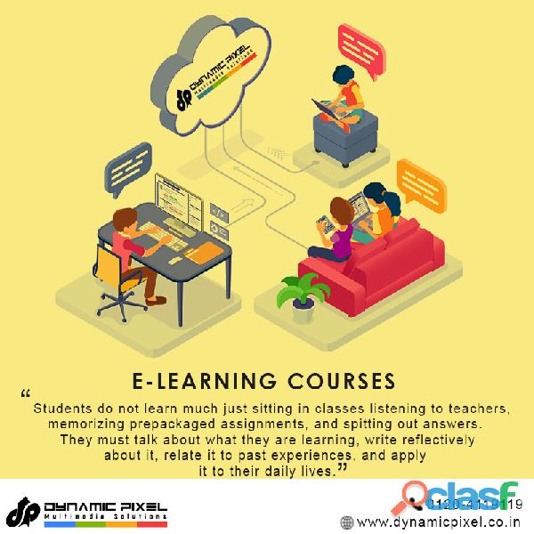 E learning content development in Delhi/ NCR