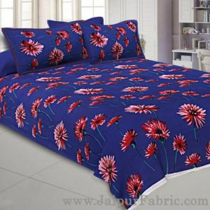 Buy online double bed sheet with sun flower print