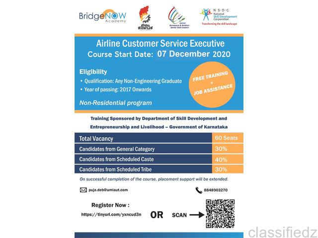Free training airline customer services executive bangalore