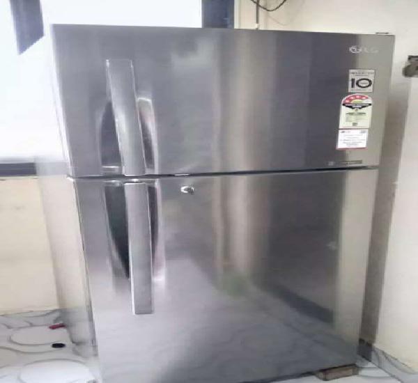 Lg double door fridge 260 l