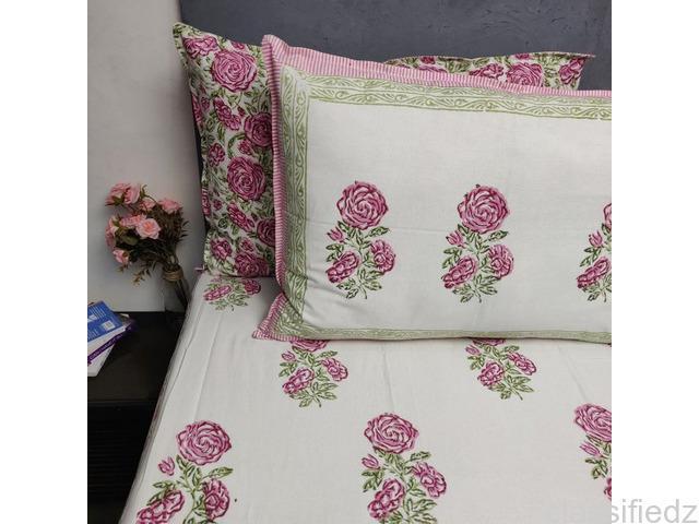 Double bed sheets online - jaipur mela mumbai