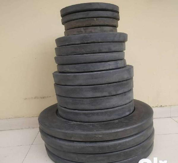Gym weight plates rubber, gym plates, dumbbell plates, set