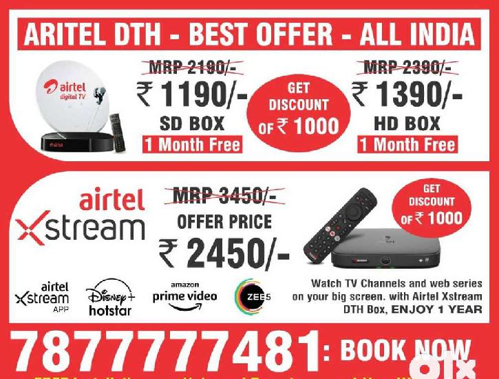 Airtel dth set top box new connection tatasky festival offer