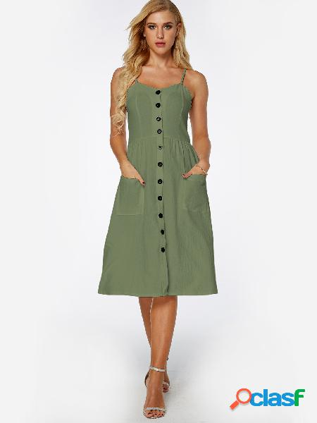 Army green backless side pockets occasion dresses