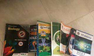 All neet book-mcq-material, 11th&12 th book good condition