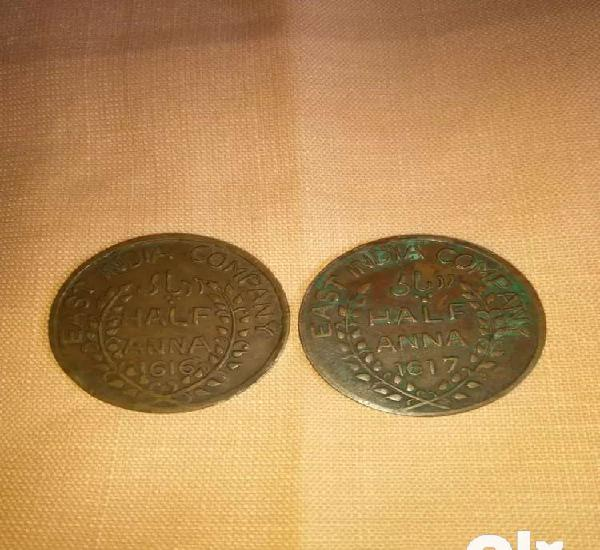 Rare old antique coin of east india company