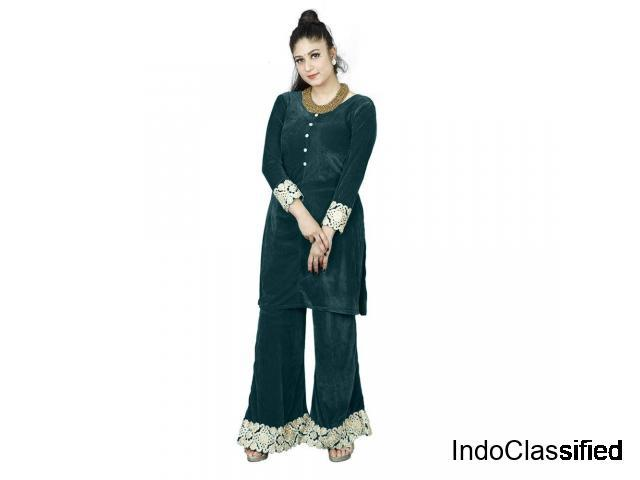 Shop velvet salwar suit for ladies at amazon