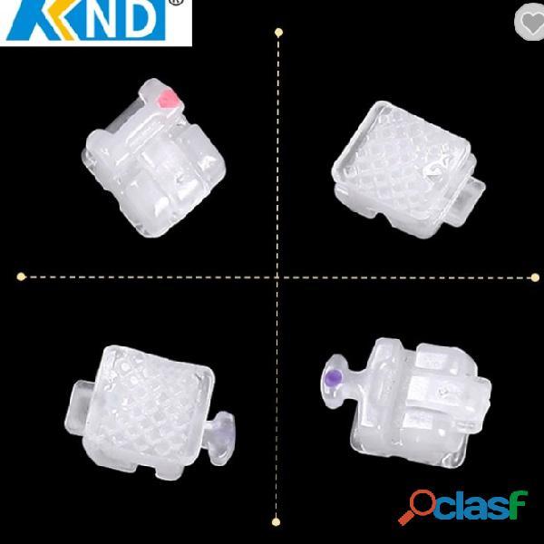Hot selling KND orthodontic ceramic Roth self ligating brackets