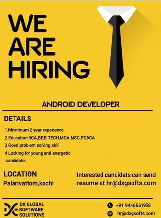 Android developer - software/qa/dba/etc