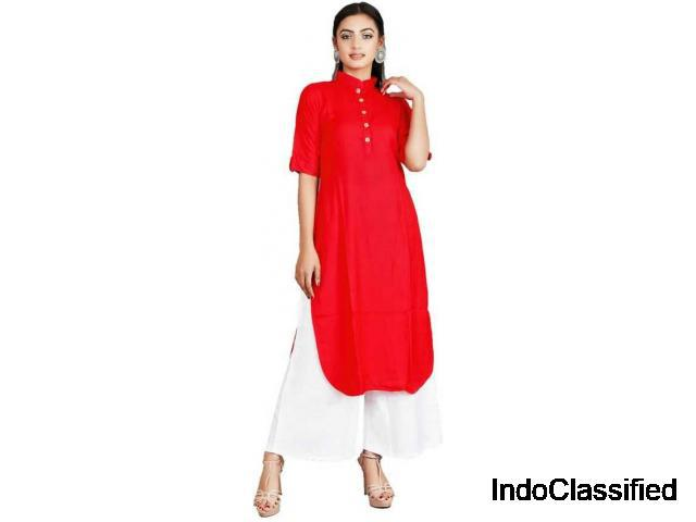 Buy rayon kurta palazzo set at flipkart