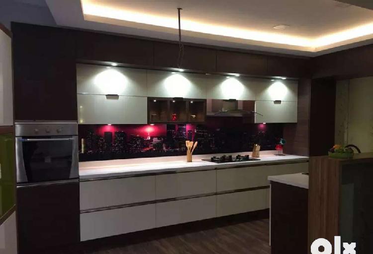 Interior work modular kitchen available