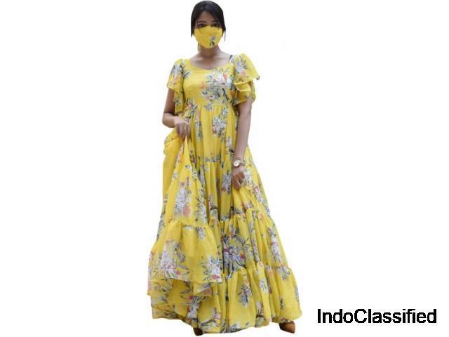 Buy yellow maxi dress online at flipkart