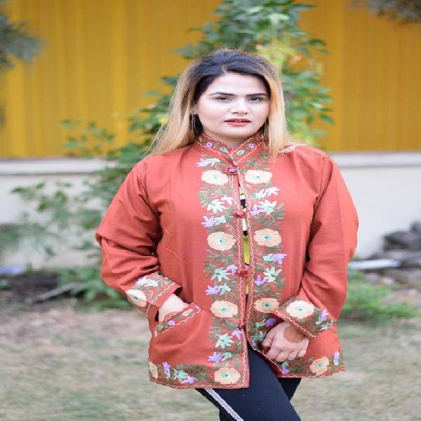 Kashmiri aari work jacket