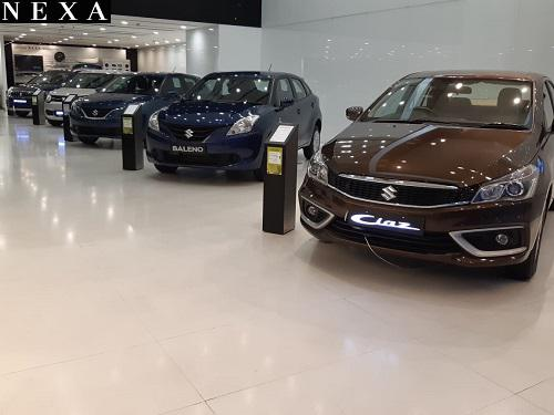 Luxury nexa cars at sanei motors maruti showroom kolkata