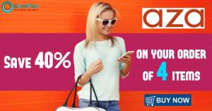 Aza fashions coupons, deals & offers:save 40% on your order