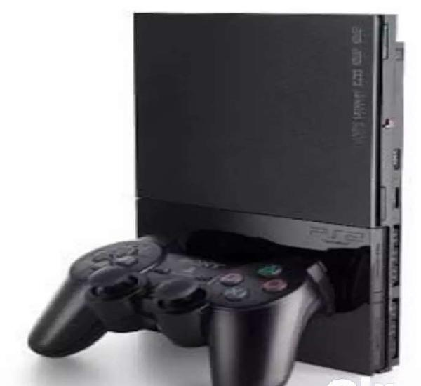 Playstation 2 with cds, hard disk and memory card